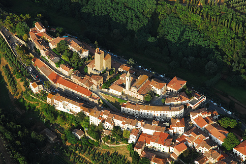 vilarejo de Vinci visto de cima
