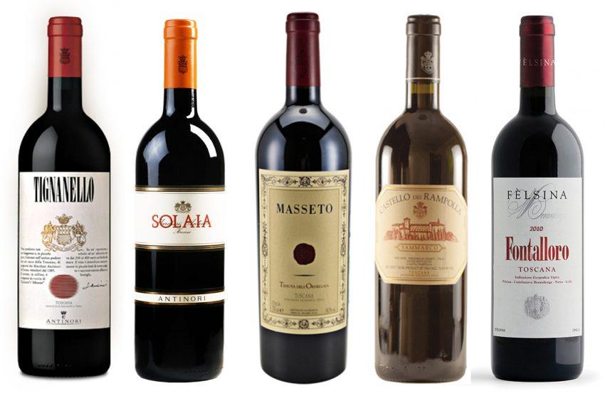 """Para distinguir os triviais """"vinhos de mesa"""" IGT dos mais elaborados vinhos de mesma denominação, o americano crítico de vinhos Robert Parker inventa o termo """"Super Tuscan""""."""