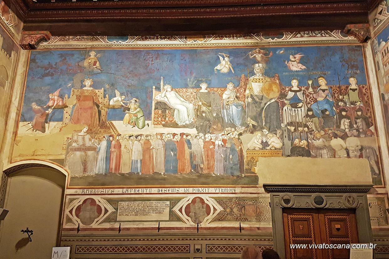 Sala dei Nove - Efeitos do bom e mau governo.