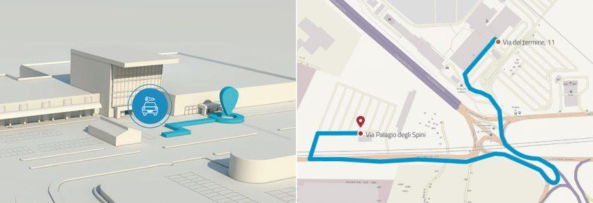 Onde pegar o ônibus circular para o estacionamento dos rent a car, e o percurso que o ônibus faz.