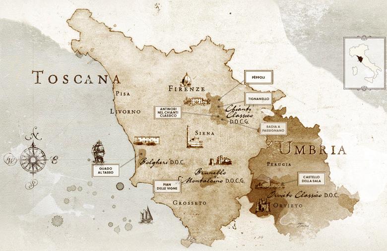 Mappa Tenute Antinori